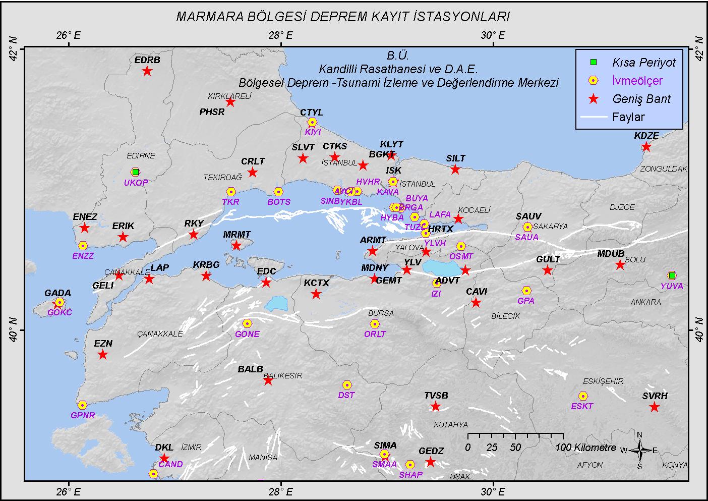 Marmara Bölgesi İstasyonları